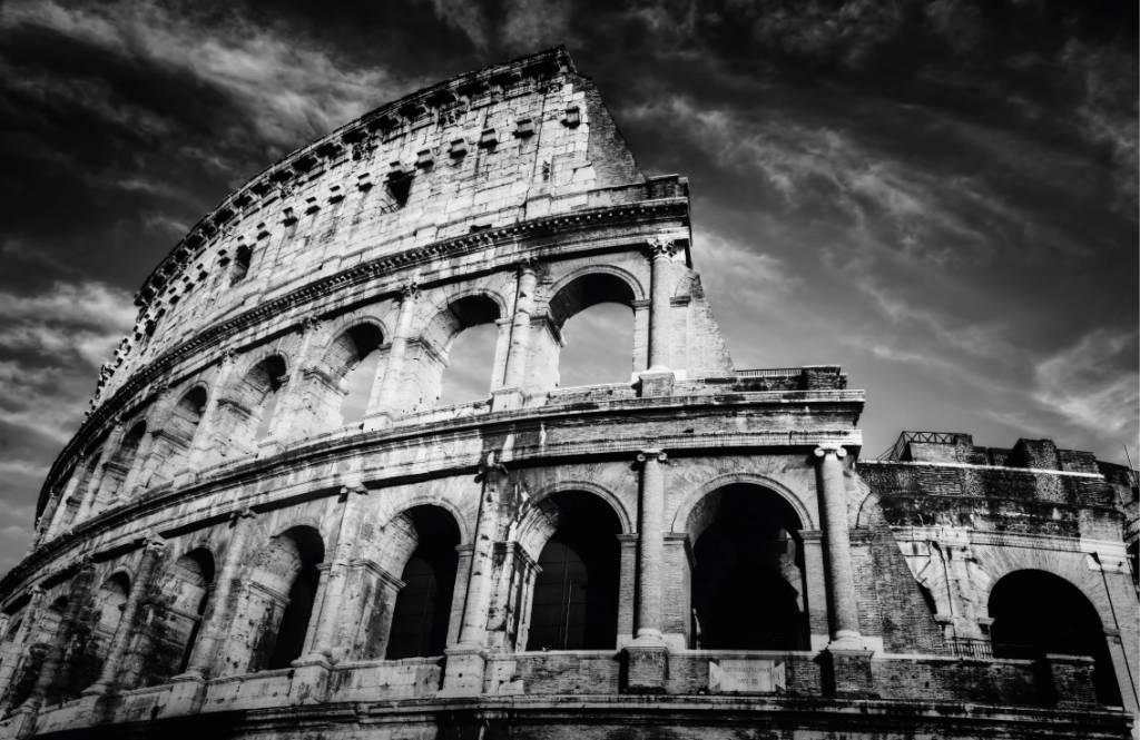 Svartvit tapet Colosseum i Rom 8