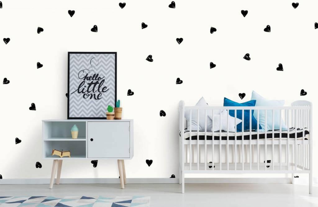 Barn tapeter Små svarta hjärtan 6