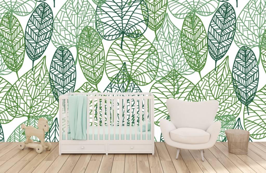 Löv Gröna blad för genombrutna 1