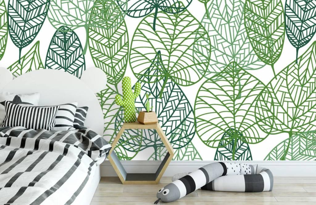 Löv Gröna blad för genombrutna 3