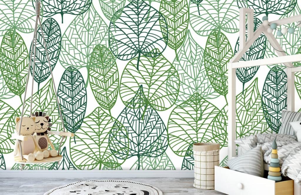 Löv Gröna blad för genombrutna 4