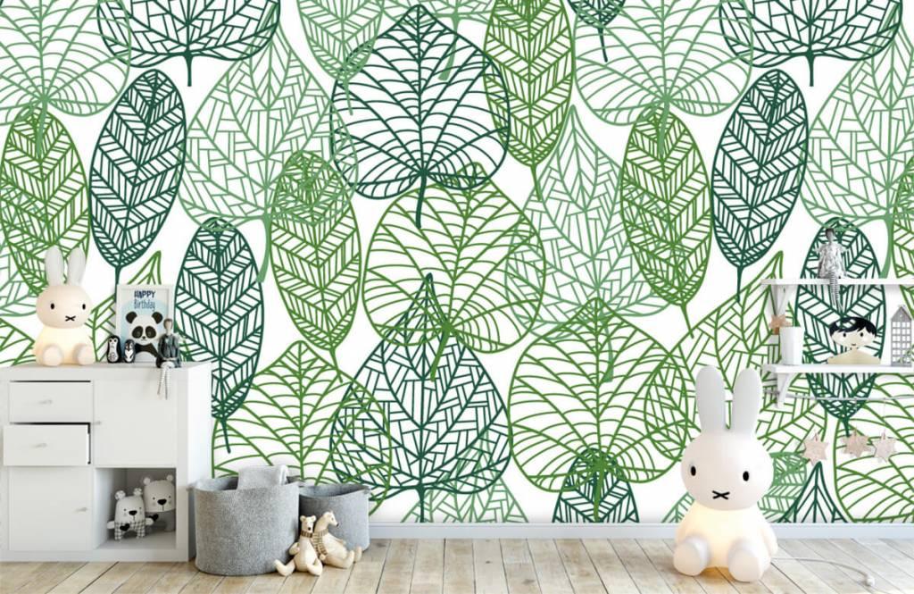 Löv Gröna blad för genombrutna 5