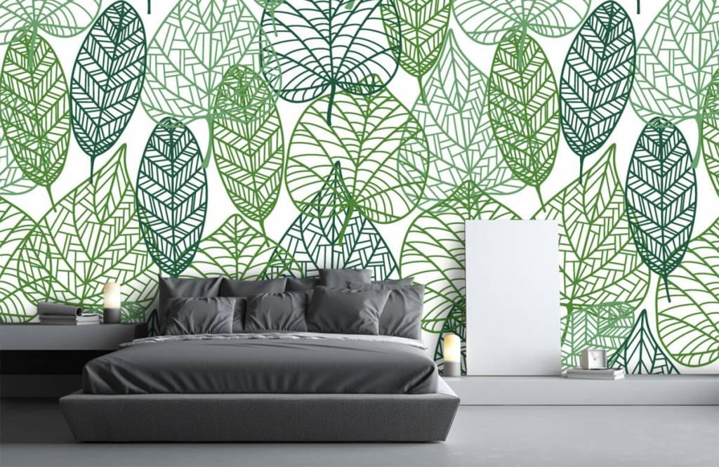 Löv Gröna blad för genombrutna 7