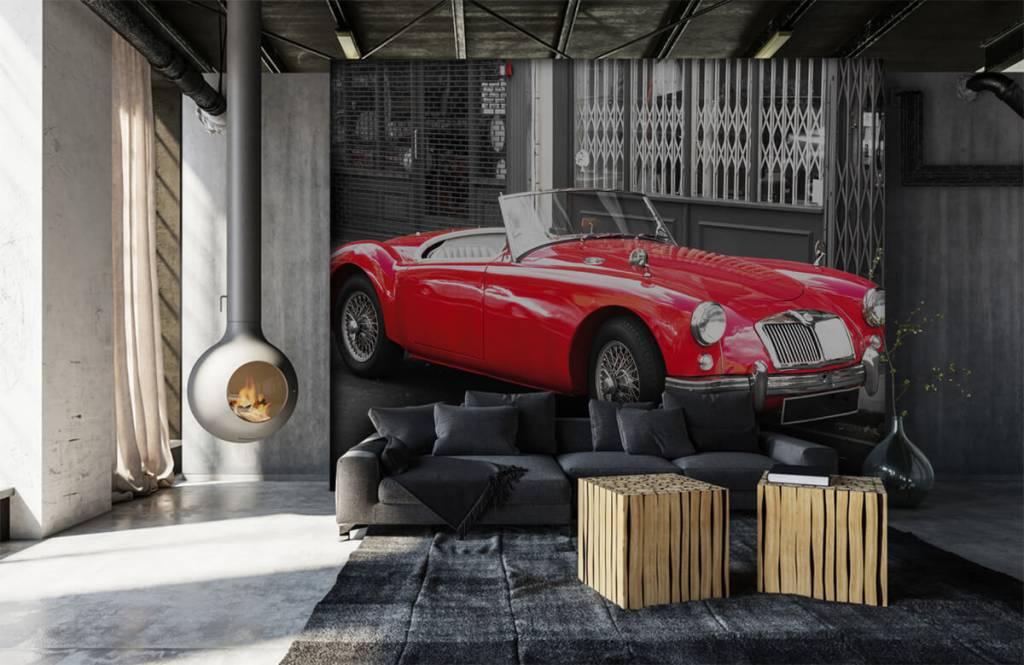 Transport Röd klassisk bil 1