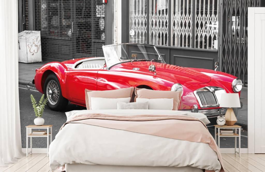 Transport Röd klassisk bil 2