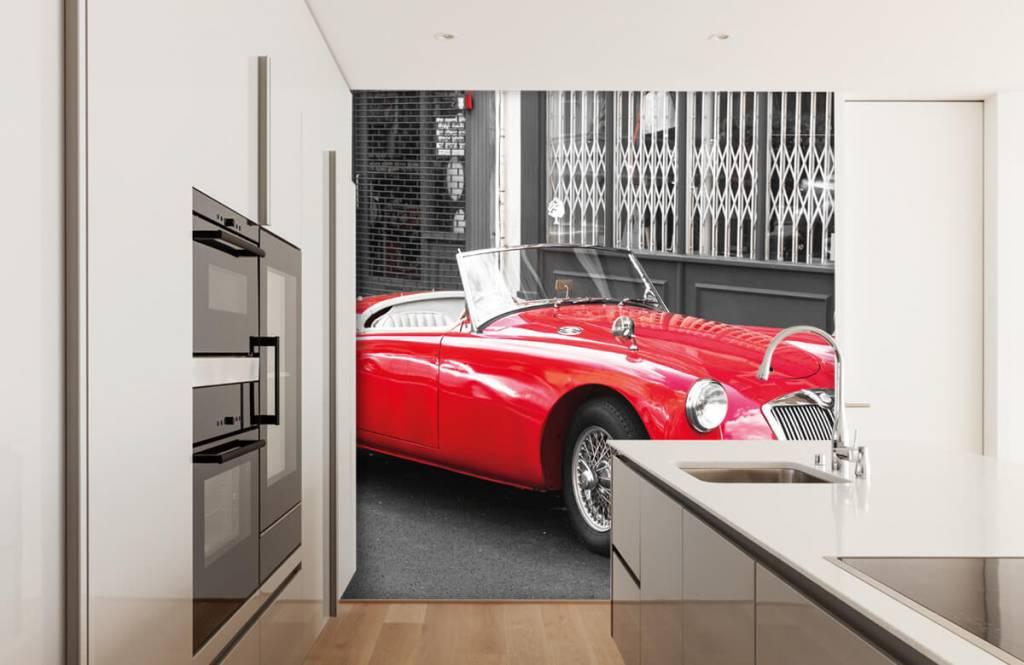 Transport Röd klassisk bil 4