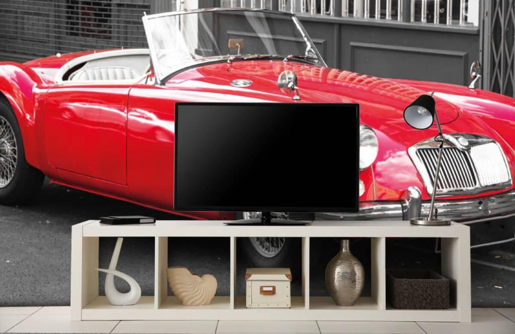 Transport Röd klassisk bil 5
