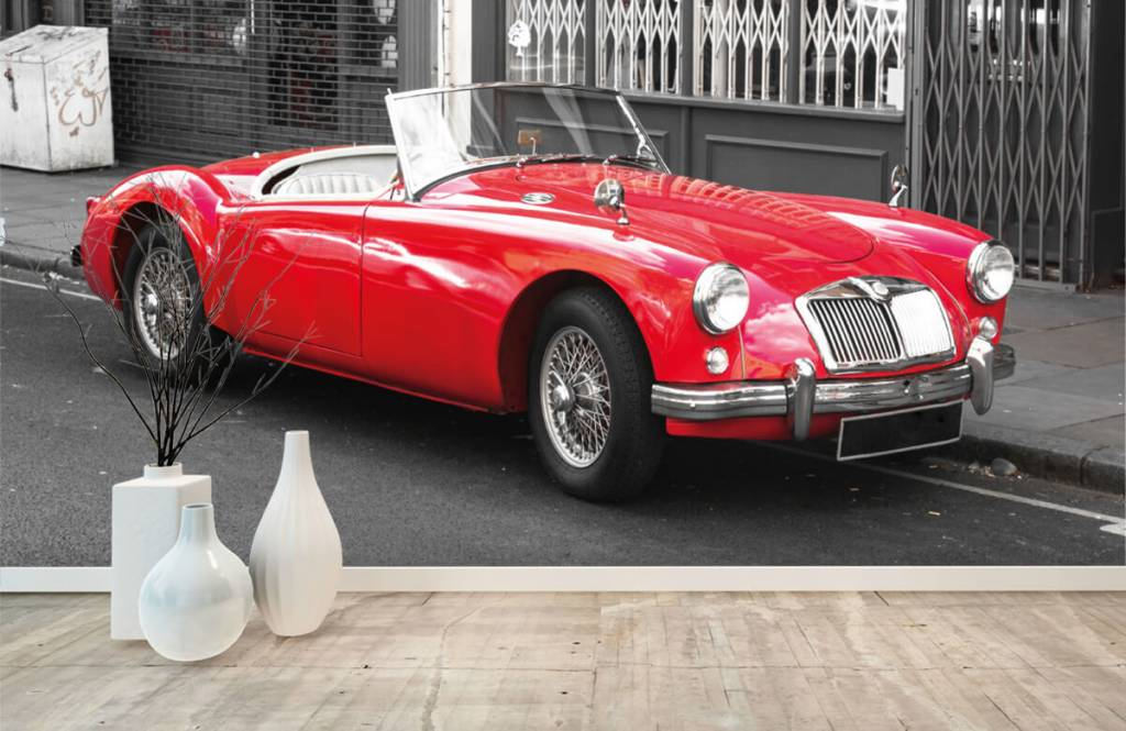 Transport Röd klassisk bil 8