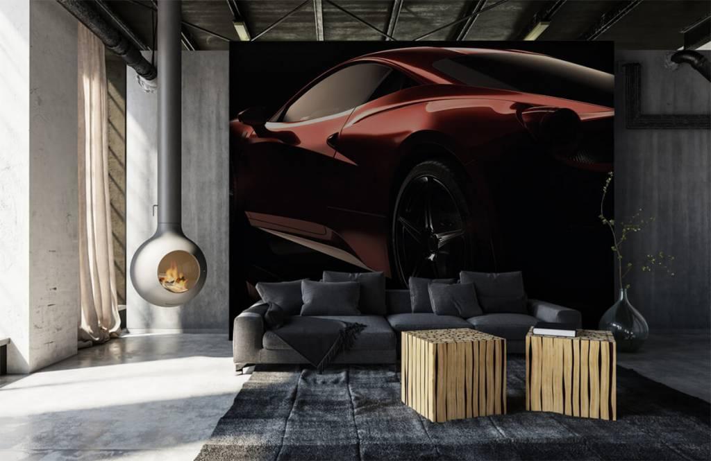 Transport Röd sportbil 1