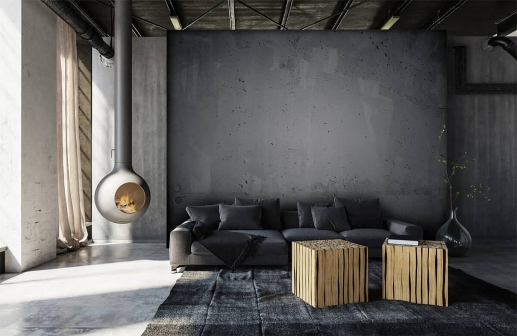 Concrete look tapet Rå betong 6