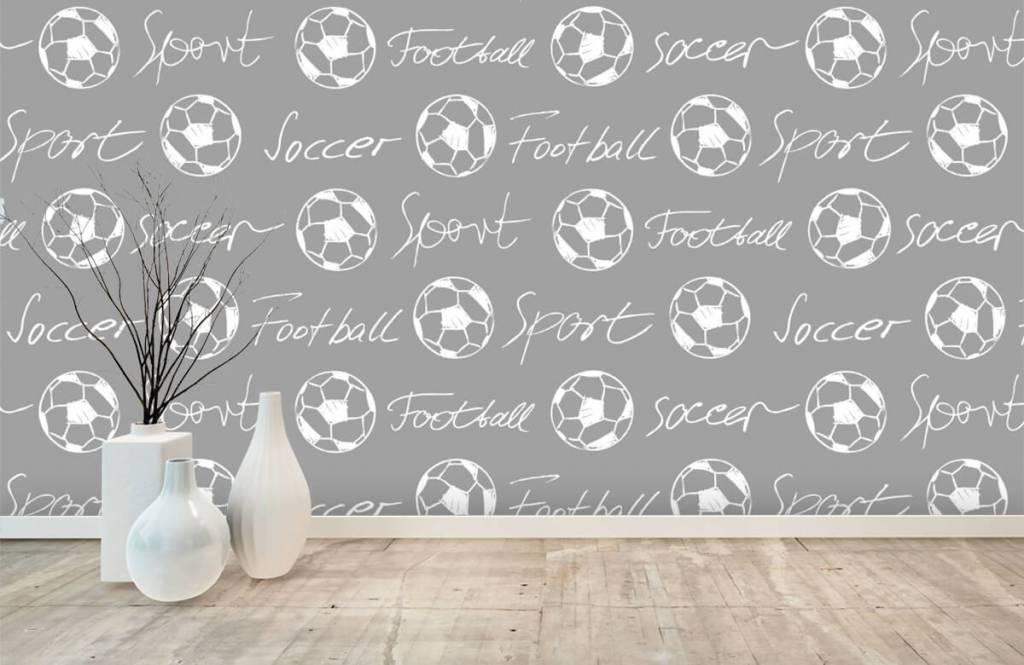 Fotboll tapet Fotbollar och text 2