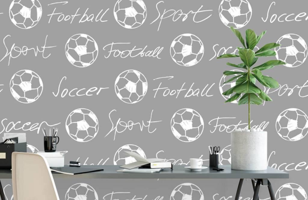 Fotboll tapet Fotbollar och text 3