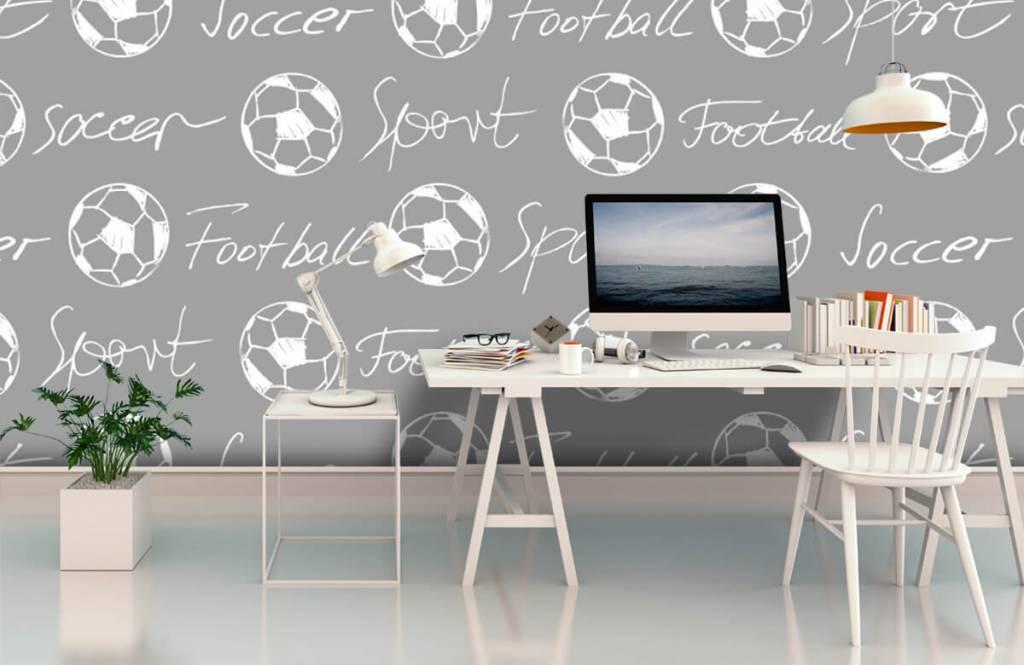 Fotboll tapet Fotbollar och text 4