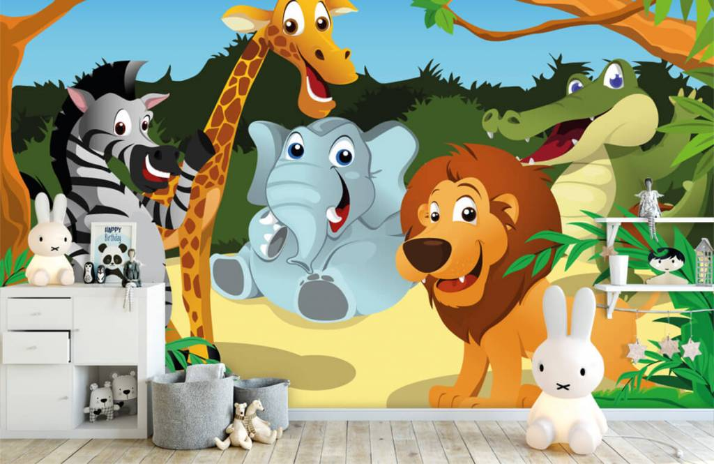 Safari djur Glada vilda djur 4