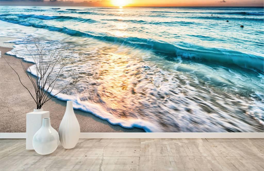 Hav och hav - Solnedgång över lugnt hav 1