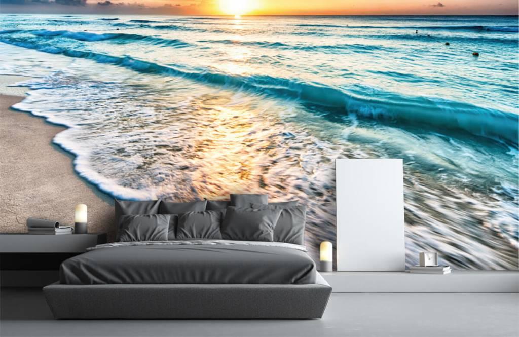 Hav och hav - Solnedgång över lugnt hav 2