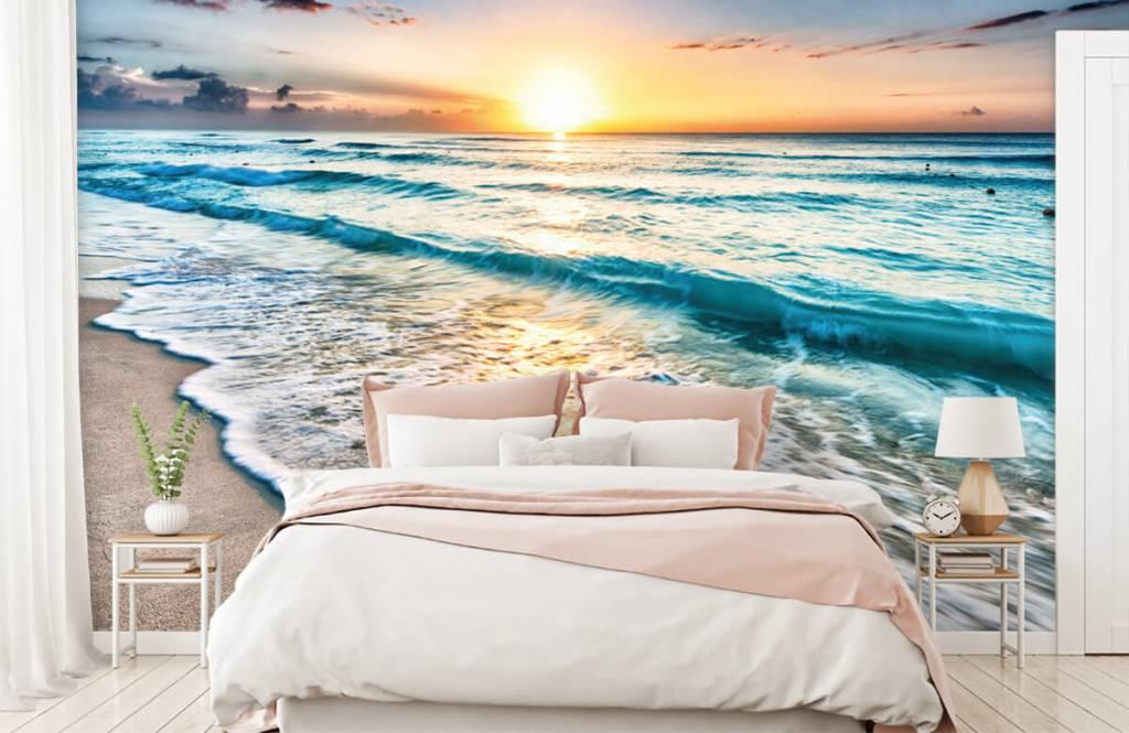Hav och hav - Solnedgång över lugnt hav 3