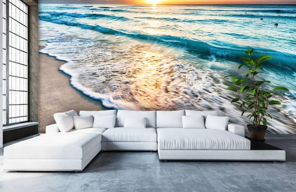 Hav och hav - Solnedgång över lugnt hav 6
