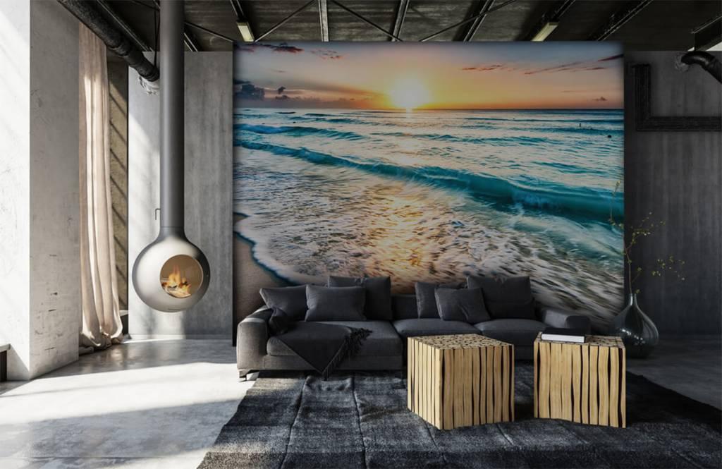 Hav och hav - Solnedgång över lugnt hav 7