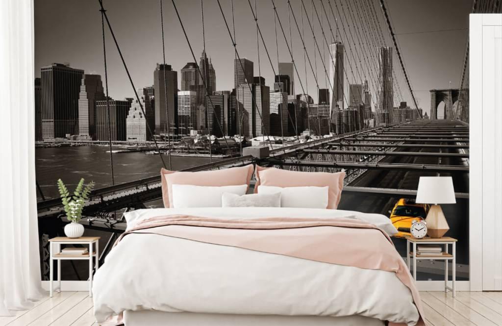 Svartvit tapet skyline Manhattan 2