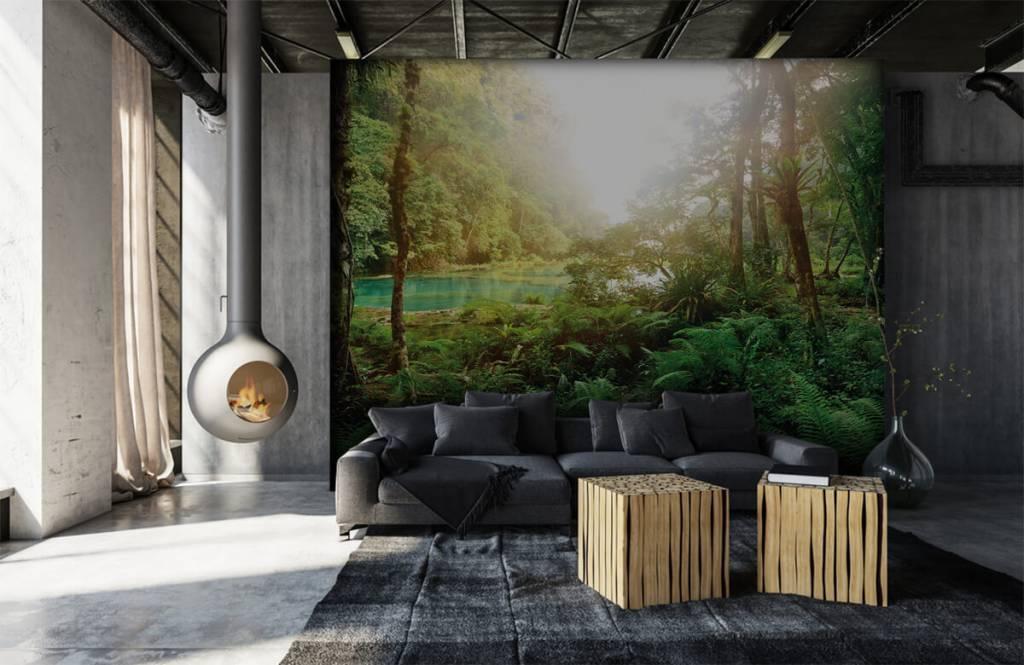 Skog tapet Sjö i djungeln 7