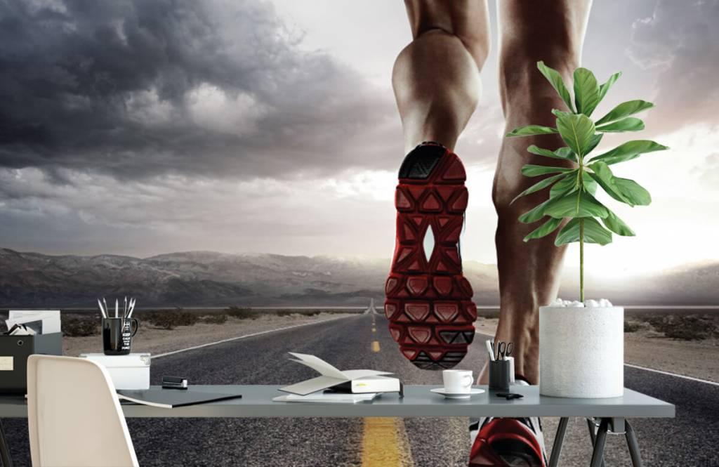 Sport och fitness Ben av en ryttare 3