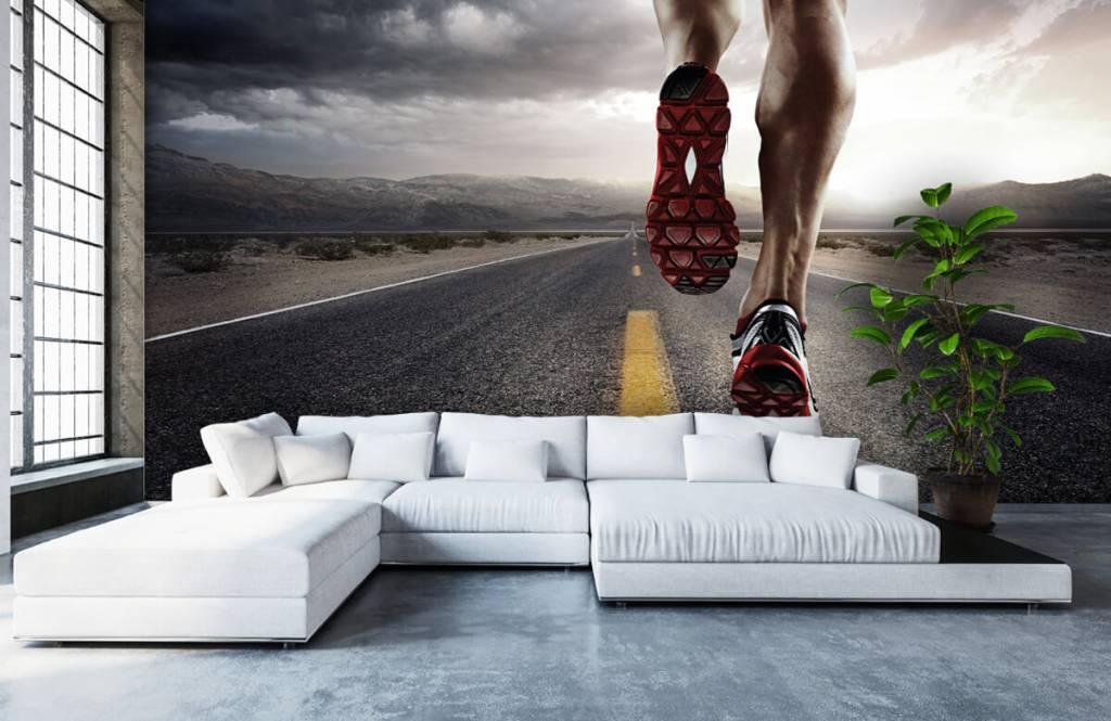 Sport och fitness Ben av en ryttare 7