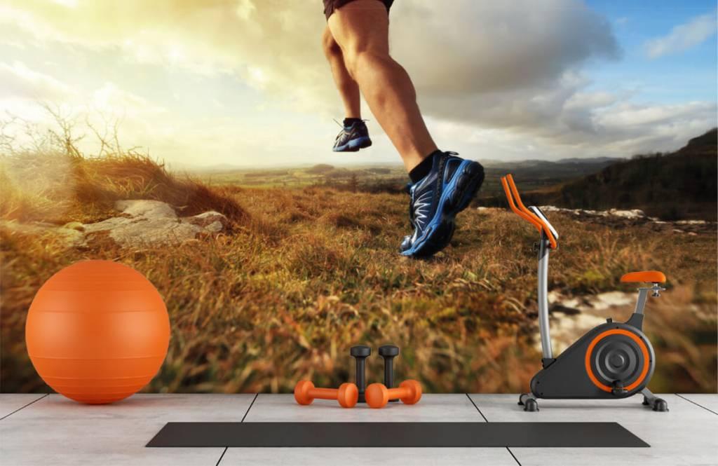 Sport och fitness Joggare i aktipå 1