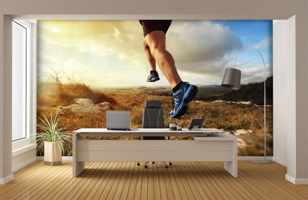 Sport och fitness Joggare i aktipå 4
