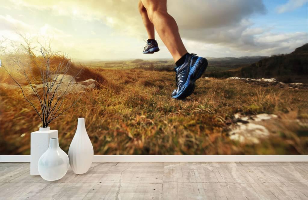Sport och fitness Joggare i aktipå 8
