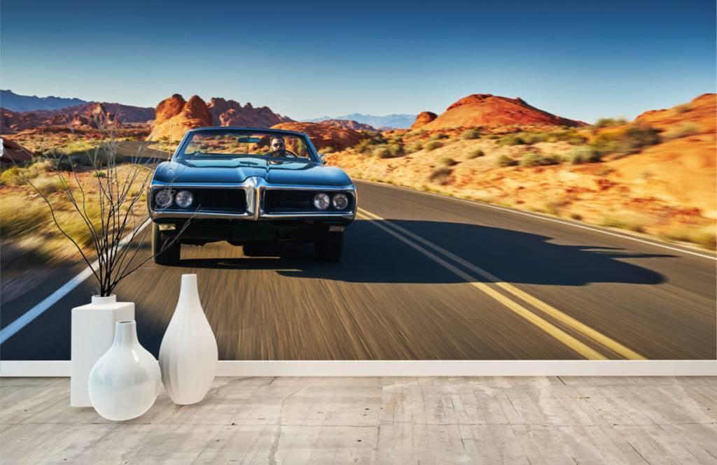 Transport Muskelbil i ett amerikanskt landskap 6