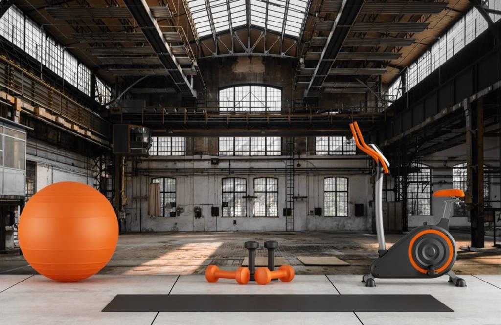 Byggnader Övergiven industrihall 8