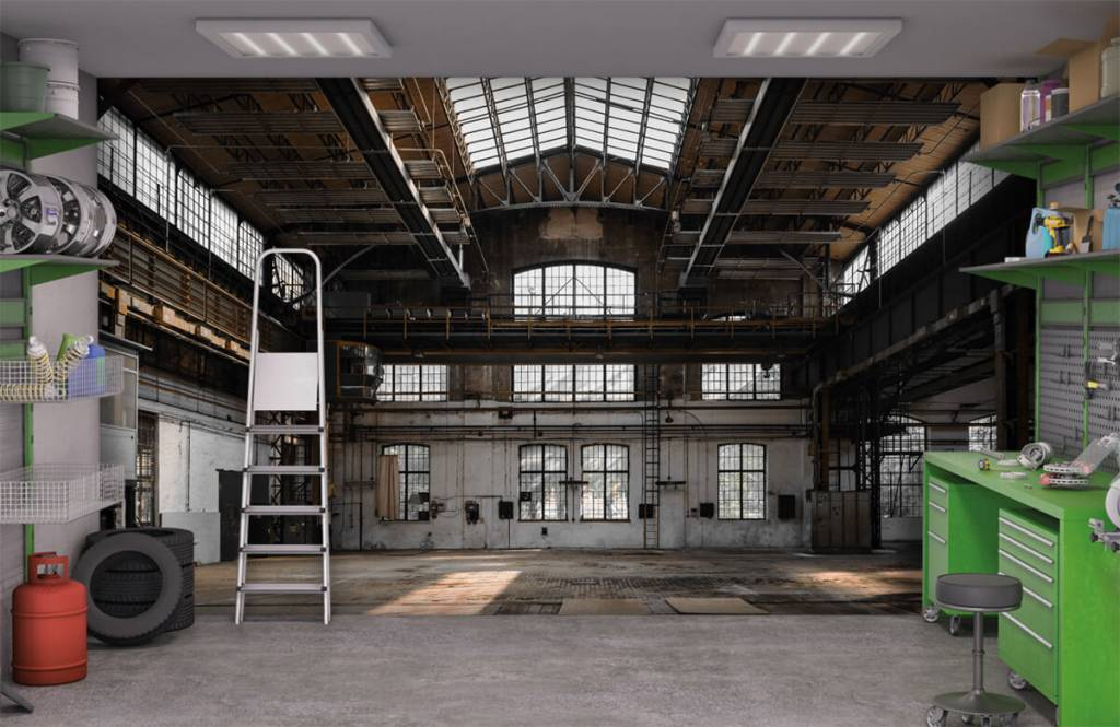 Byggnader Övergiven industrihall 9