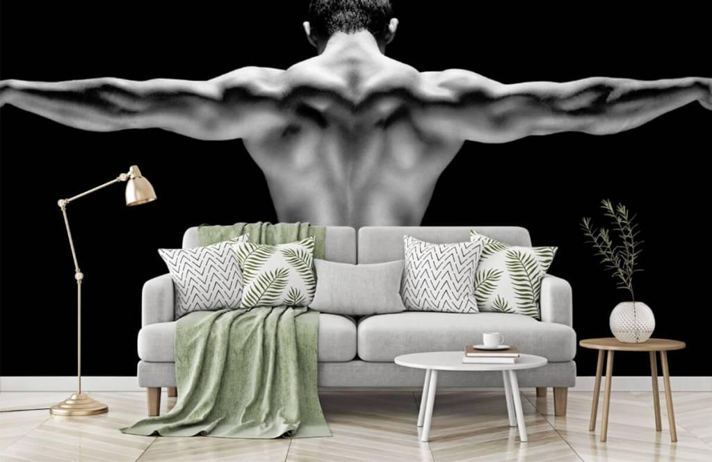 Fitness Man med utsträckta armar 5