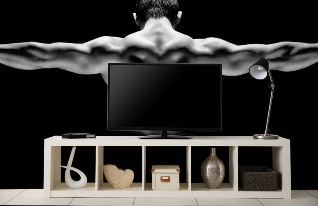 Fitness Man med utsträckta armar 7