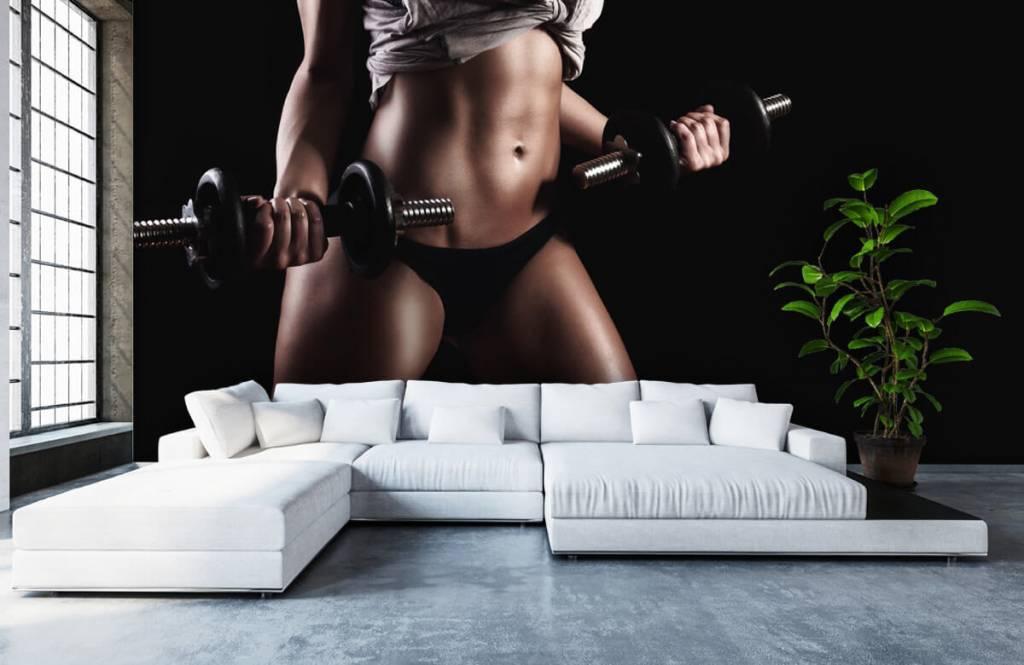 Sport och fitness Kvinna med magmuskler 3
