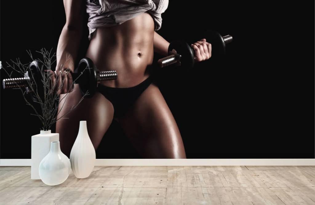 Sport och fitness Kvinna med magmuskler 7