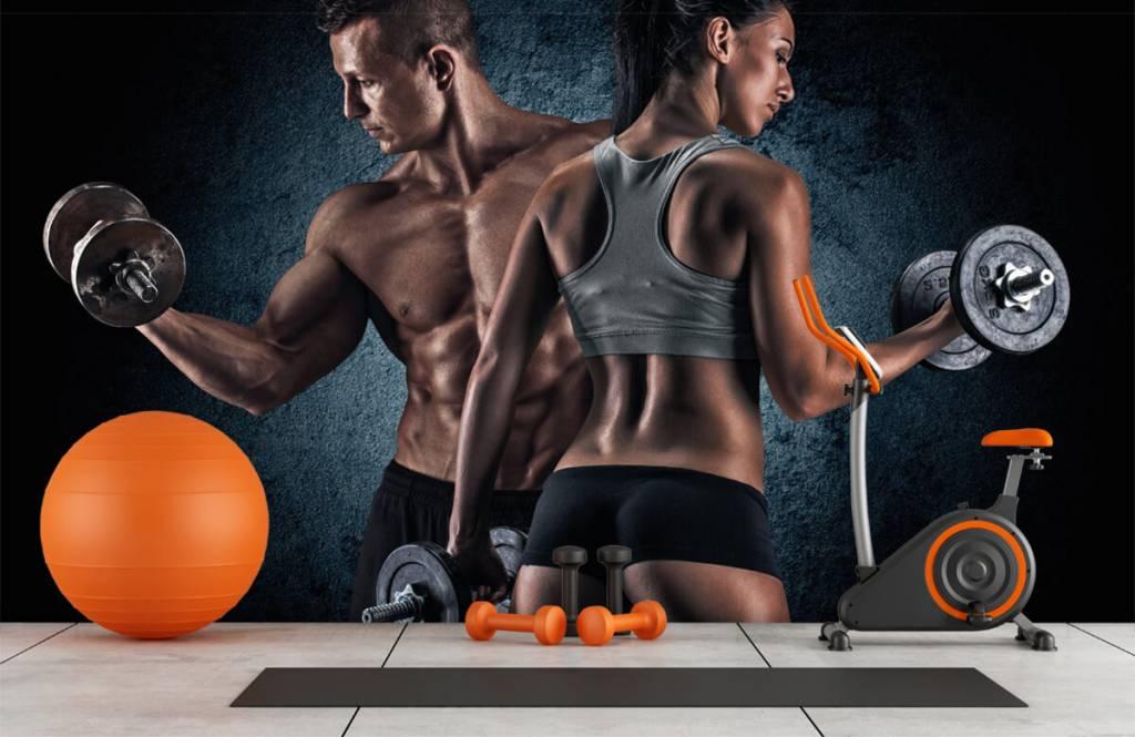 Fitness Muskulösa människor 1