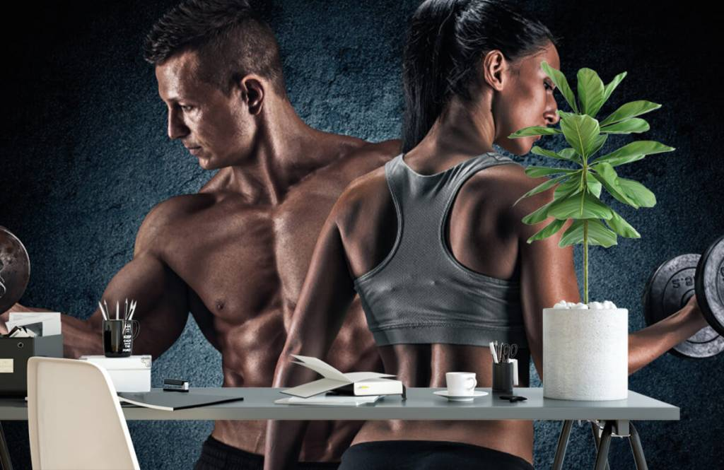 Fitness Muskulösa människor 2