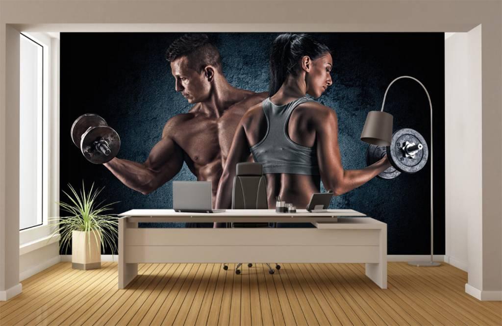 Fitness Muskulösa människor 4