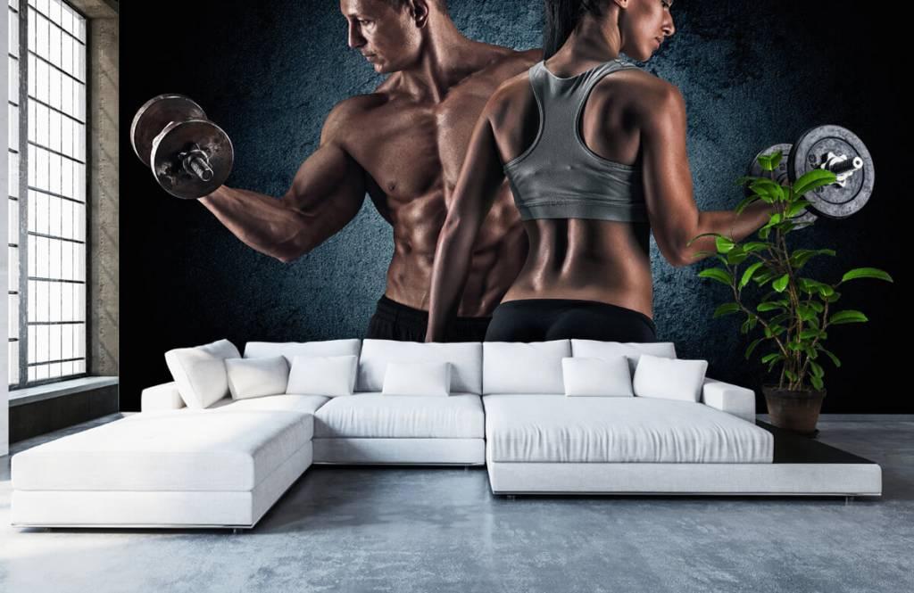 Fitness Muskulösa människor 6