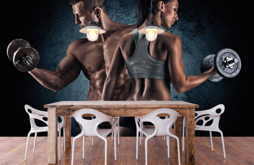 Fitness Muskulösa människor 7
