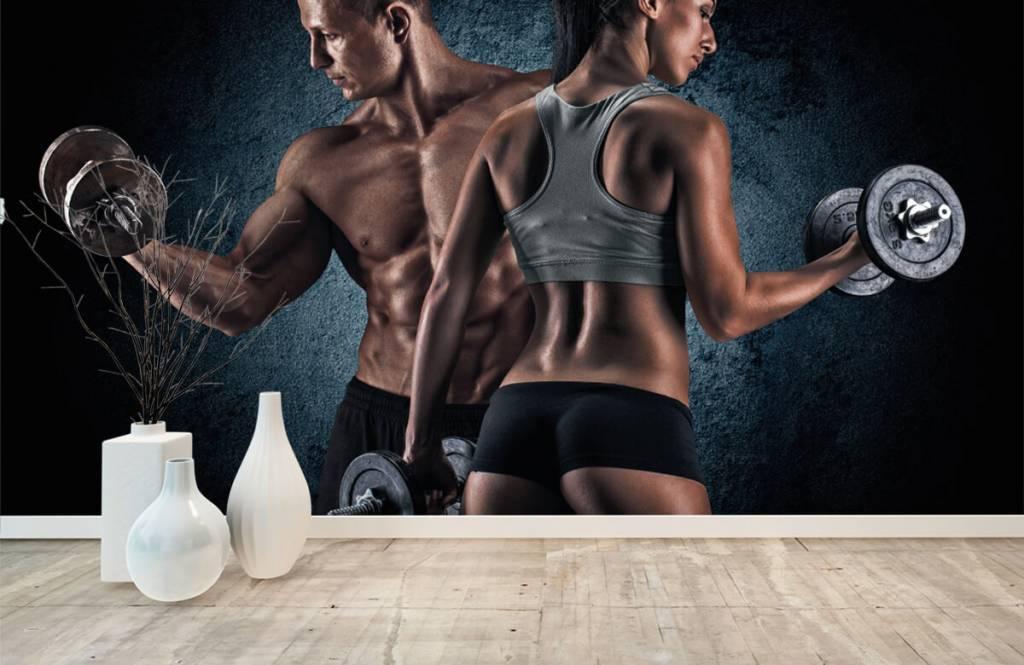 Fitness Muskulösa människor 8