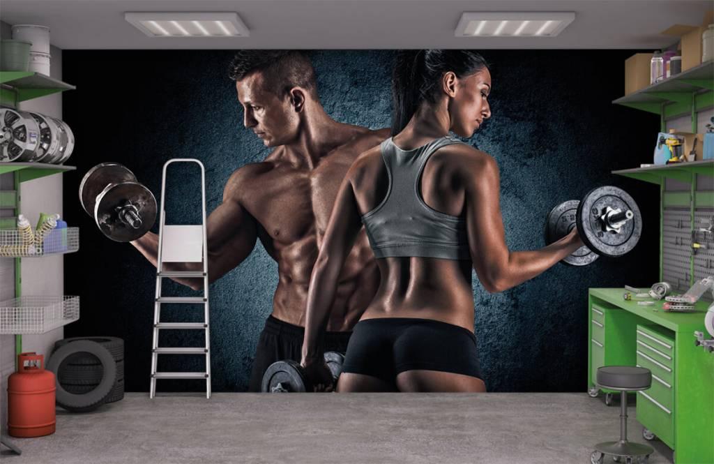 Fitness Muskulösa människor 9
