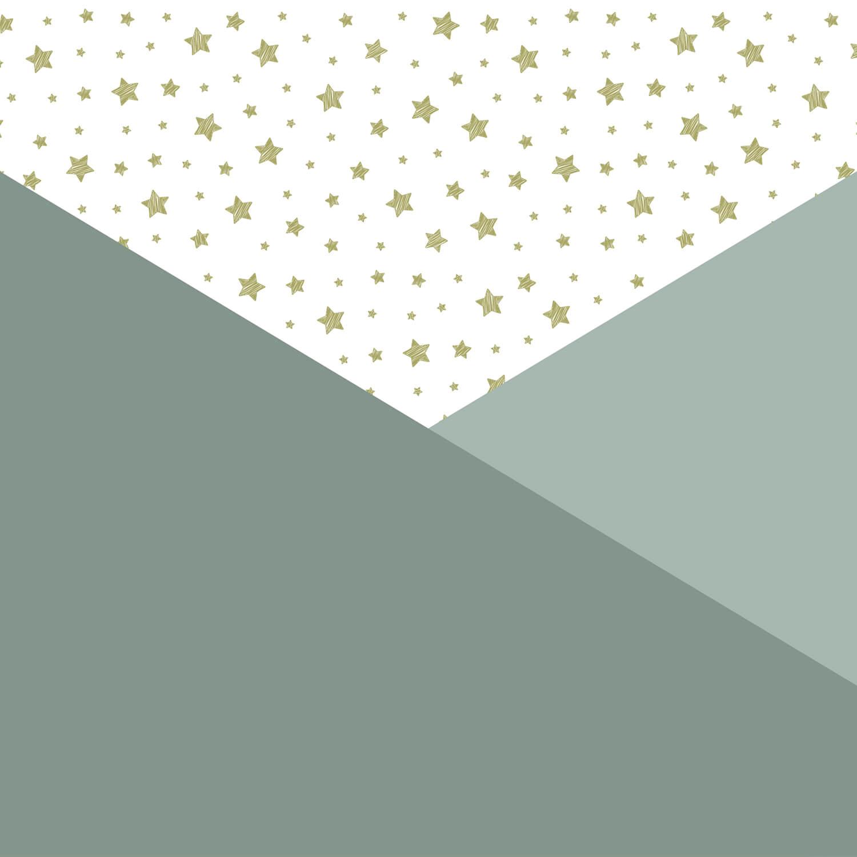 Höft & trendigt Gröna trianglar med stjärnor 10