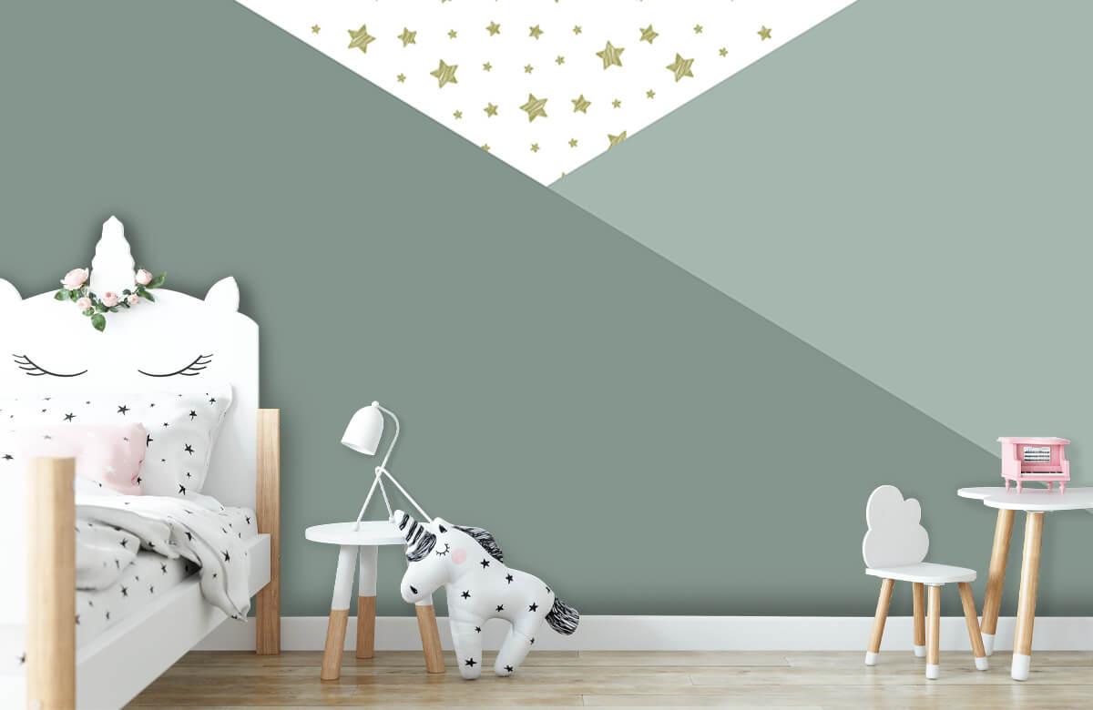 Höft & trendigt Gröna trianglar med stjärnor 8