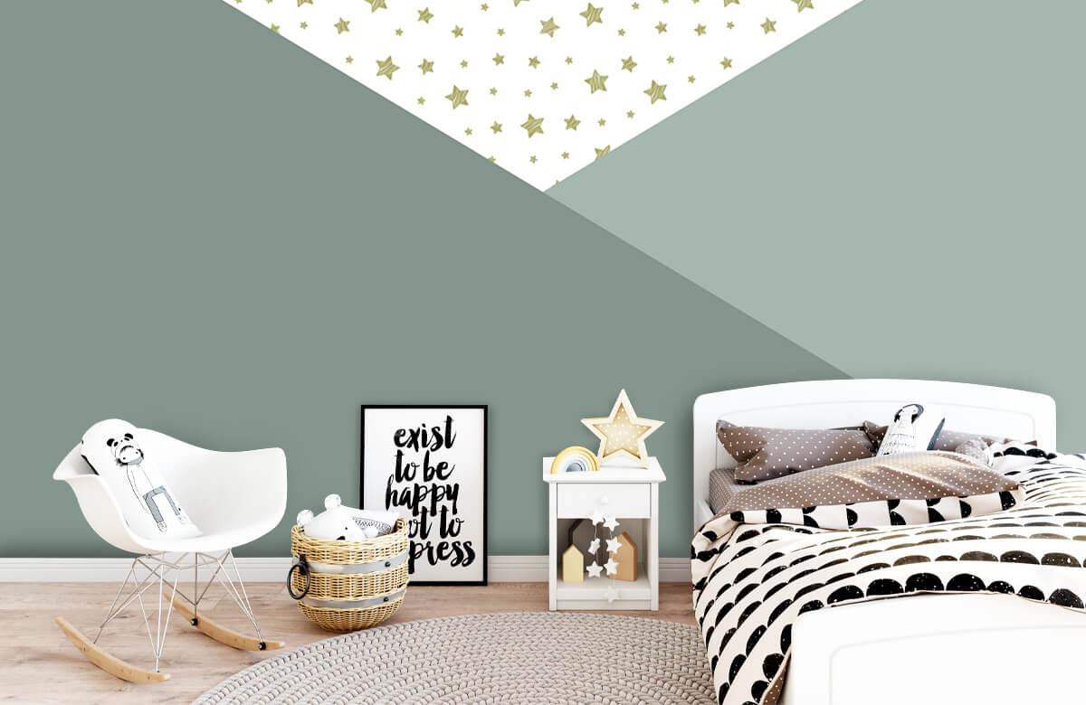 Höft & trendigt Gröna trianglar med stjärnor 9