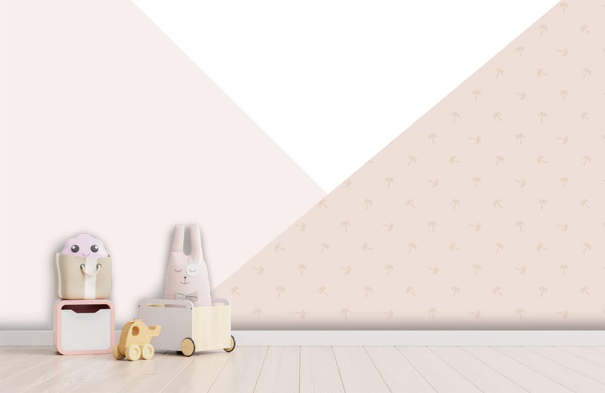 Höft & trendigt Rosa trianglar med palmer 3