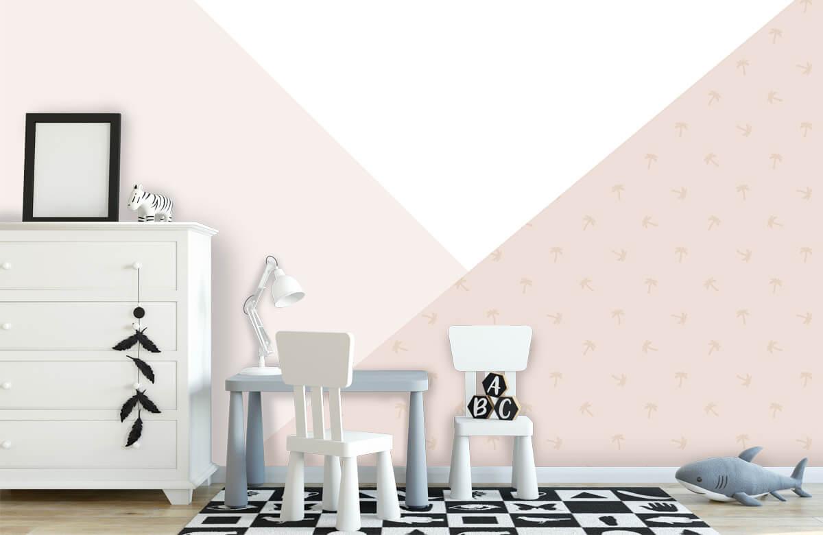 Höft & trendigt Rosa trianglar med palmer 7