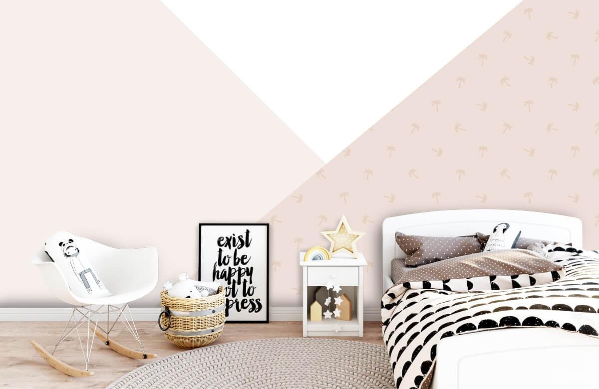 Höft & trendigt Rosa trianglar med palmer 9